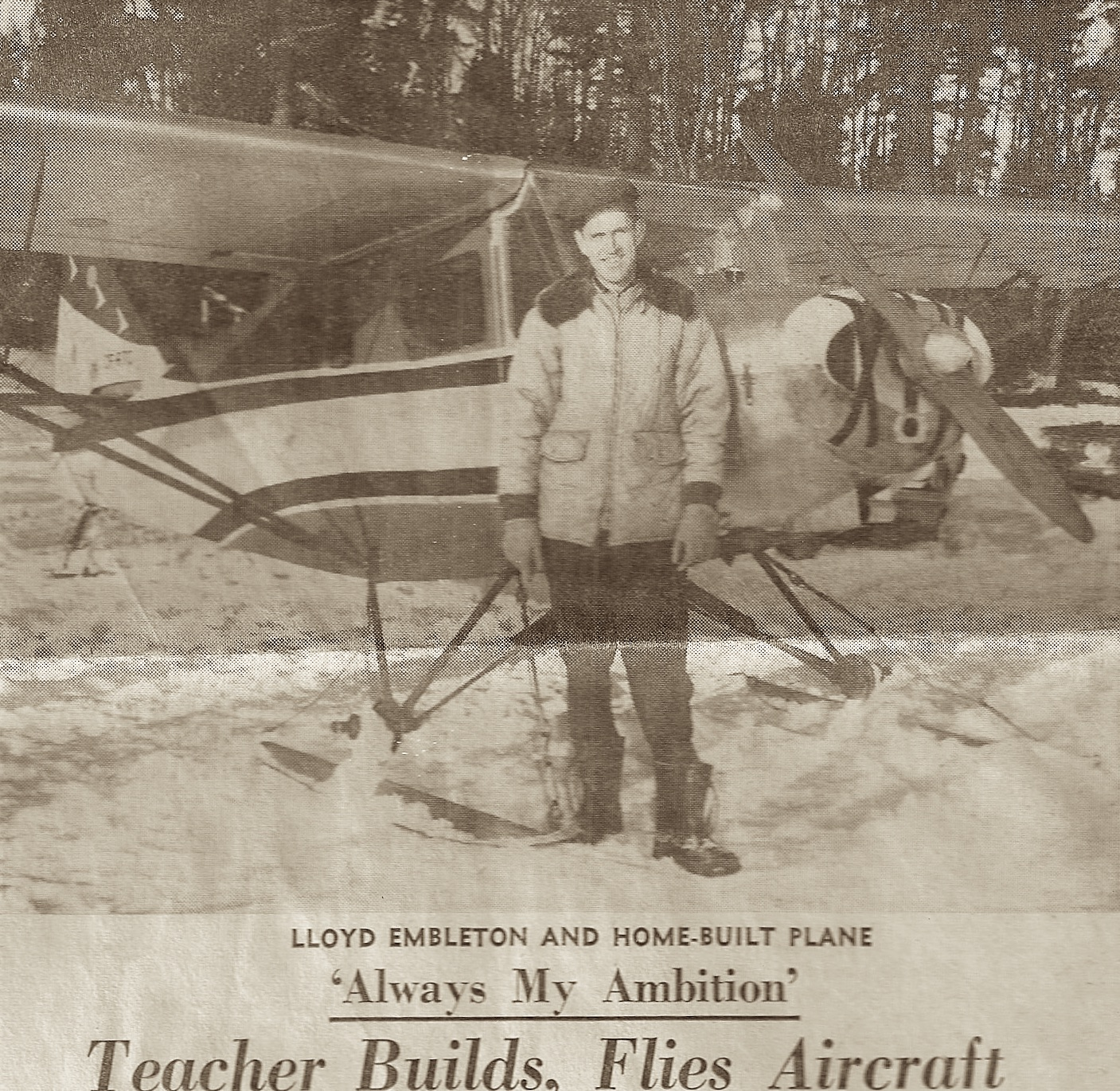 Lloyd Embelton and Home-Built Plane