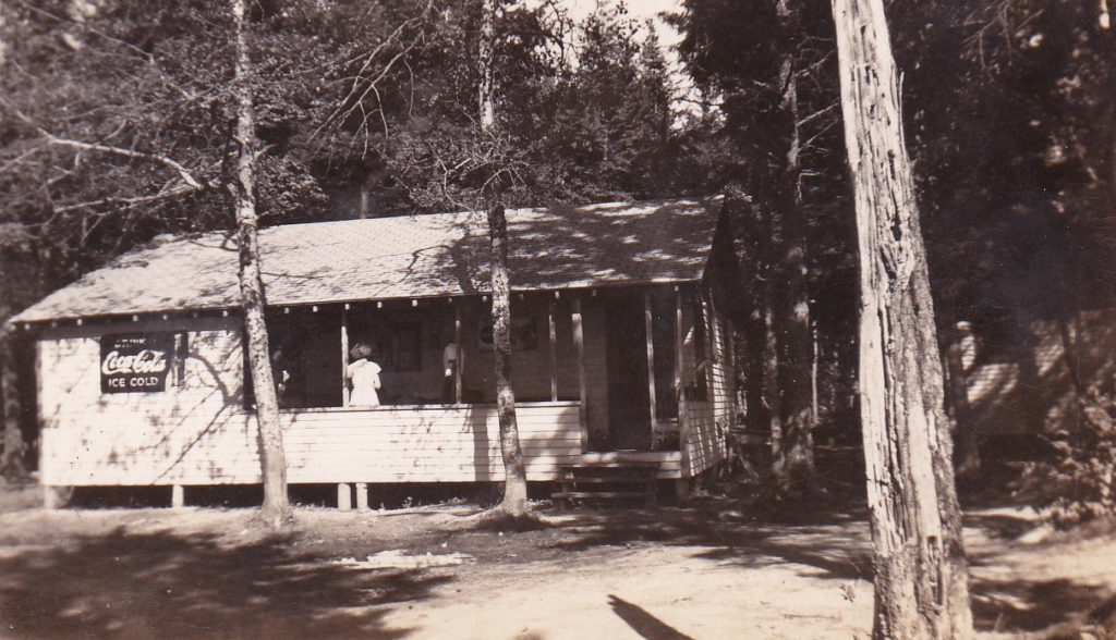 Finnie's Canteen in 1950 Farm Point .Magaguadavic lake, owned by Vernon and Georgie Finnie.